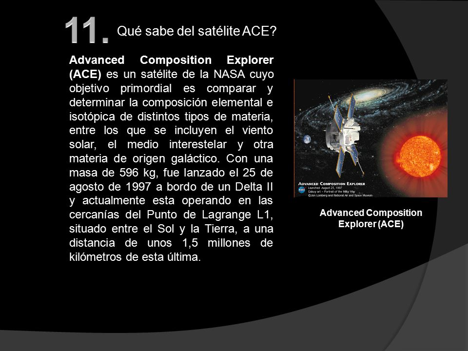 Advanced Composition Explorer (ACE)