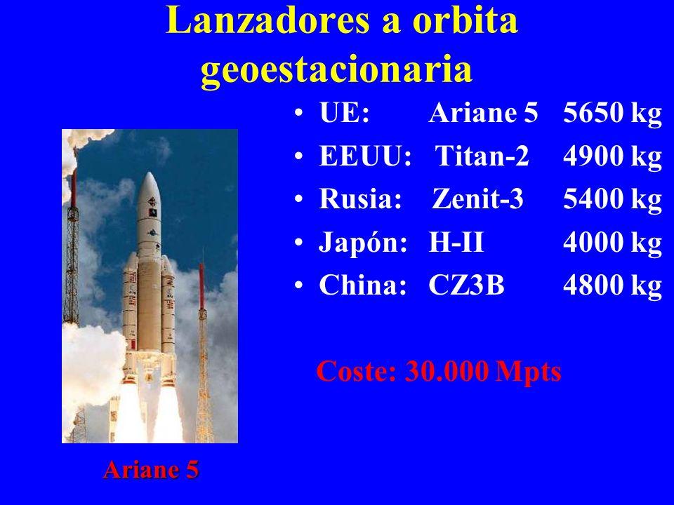 Lanzadores a orbita geoestacionaria