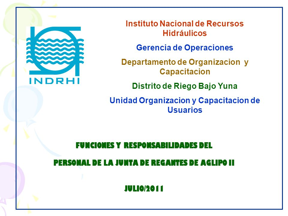 Instituto Nacional de Recursos Hidráulicos