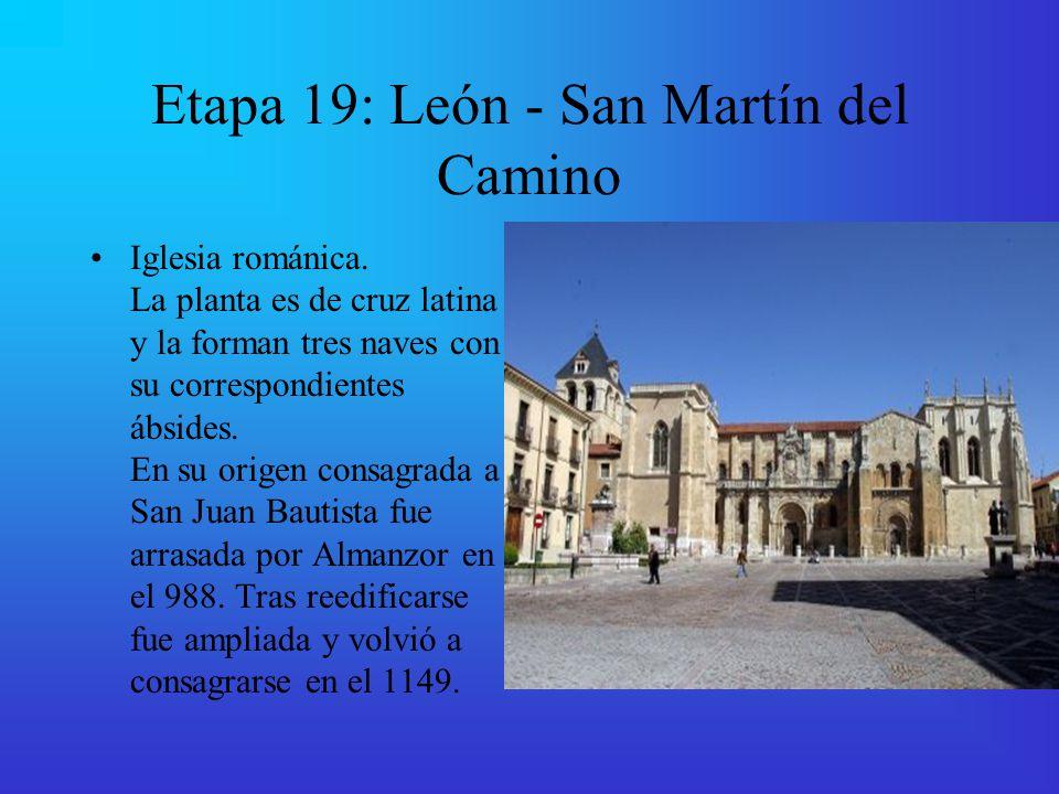 Etapa 19: León - San Martín del Camino