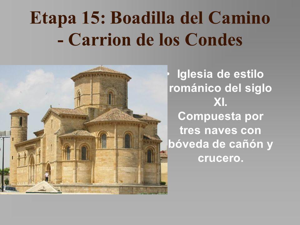 Etapa 15: Boadilla del Camino - Carrion de los Condes