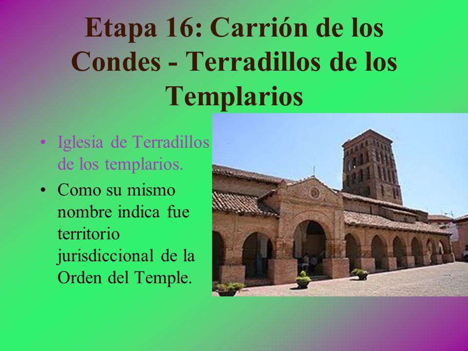 Etapa 16: Carrión de los Condes - Terradillos de los Templarios