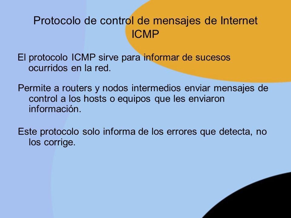 Protocolo de control de mensajes de Internet ICMP