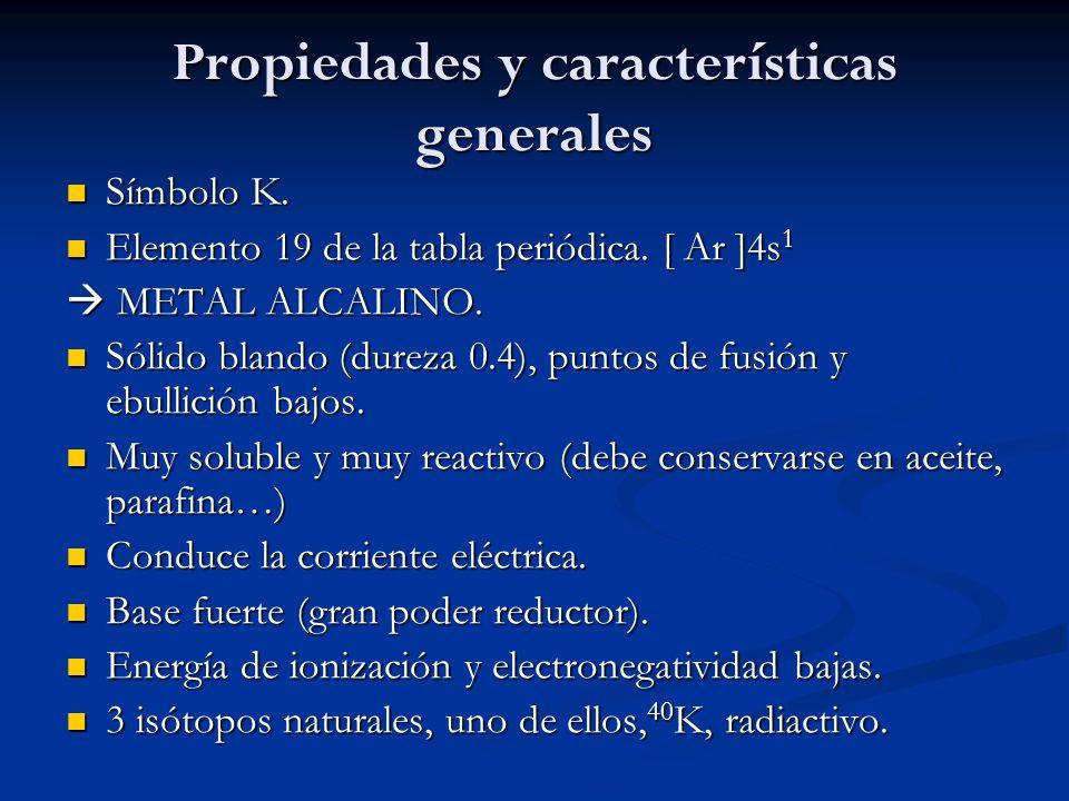 Propiedades y características generales