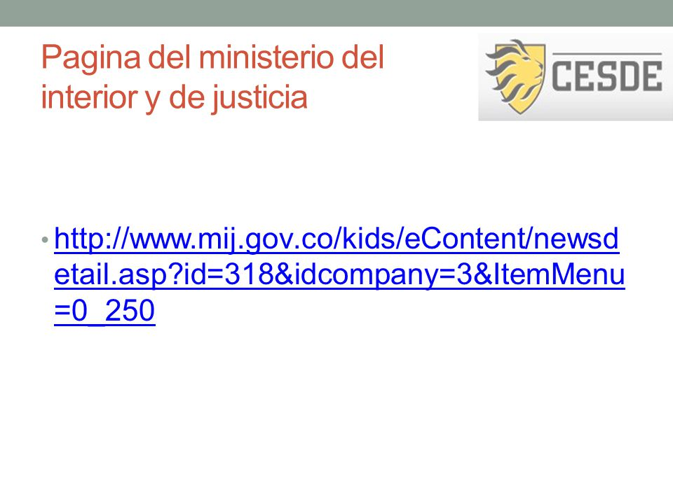 Ley de infancia y adolescencia ppt descargar for Ministerio popular de interior y justicia