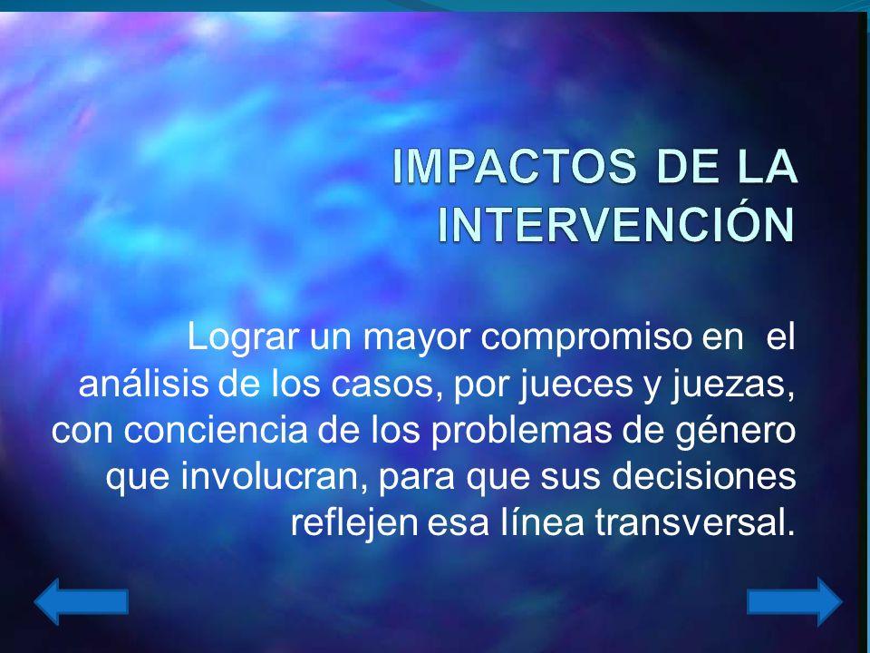 IMPACTOS DE LA INTERVENCIÓN