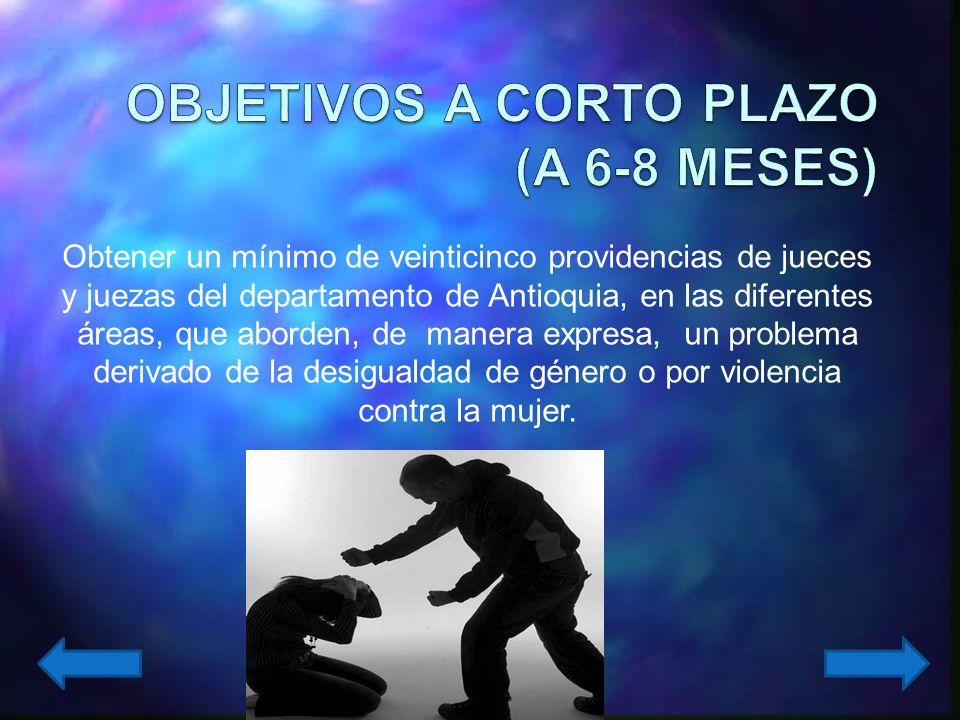 OBJETIVOS A CORTO PLAZO (A 6-8 MESES)