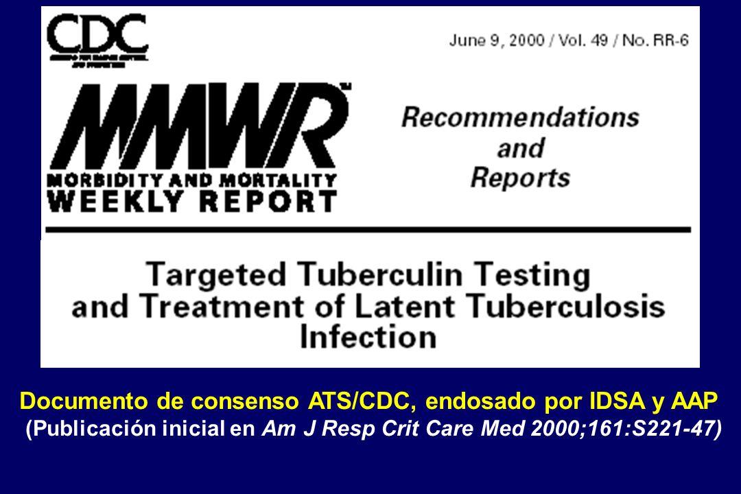 Documento de consenso ATS/CDC, endosado por IDSA y AAP