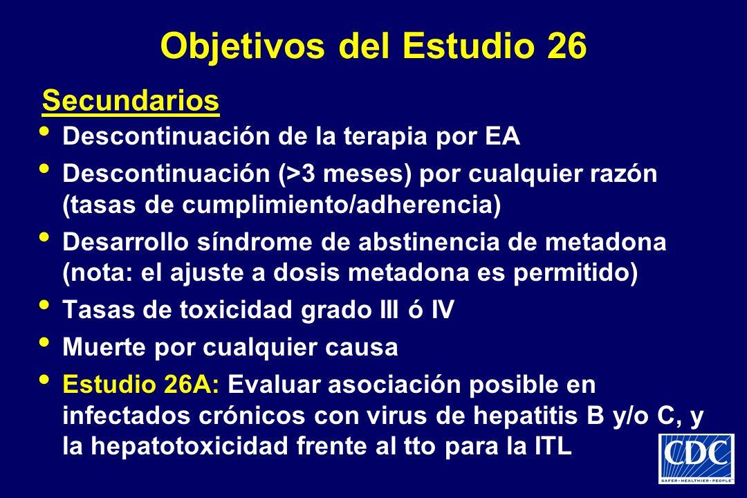 Objetivos del Estudio 26 Secundarios