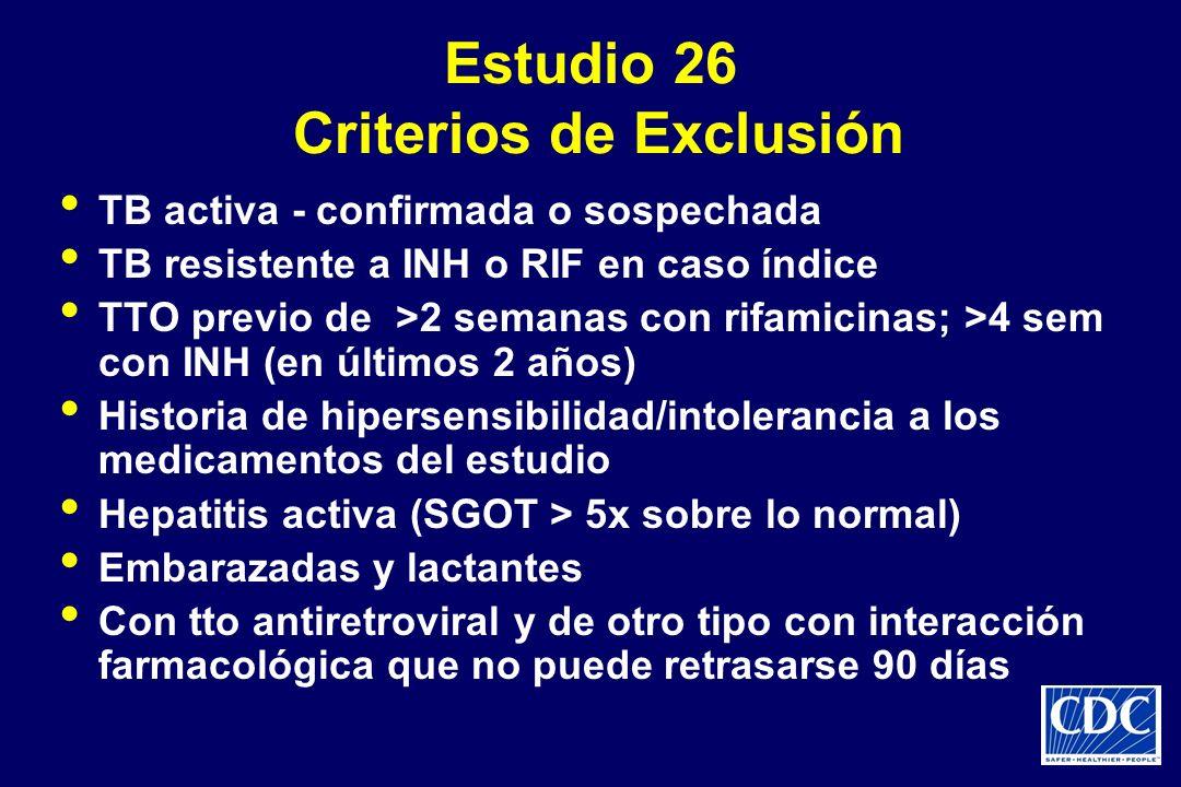 Estudio 26 Criterios de Exclusión