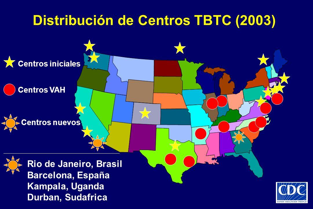 Distribución de Centros TBTC (2003)