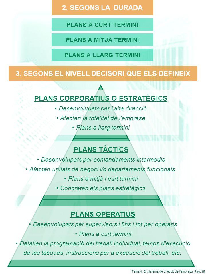 3. SEGONS EL NIVELL DECISORI QUE ELS DEFINEIX