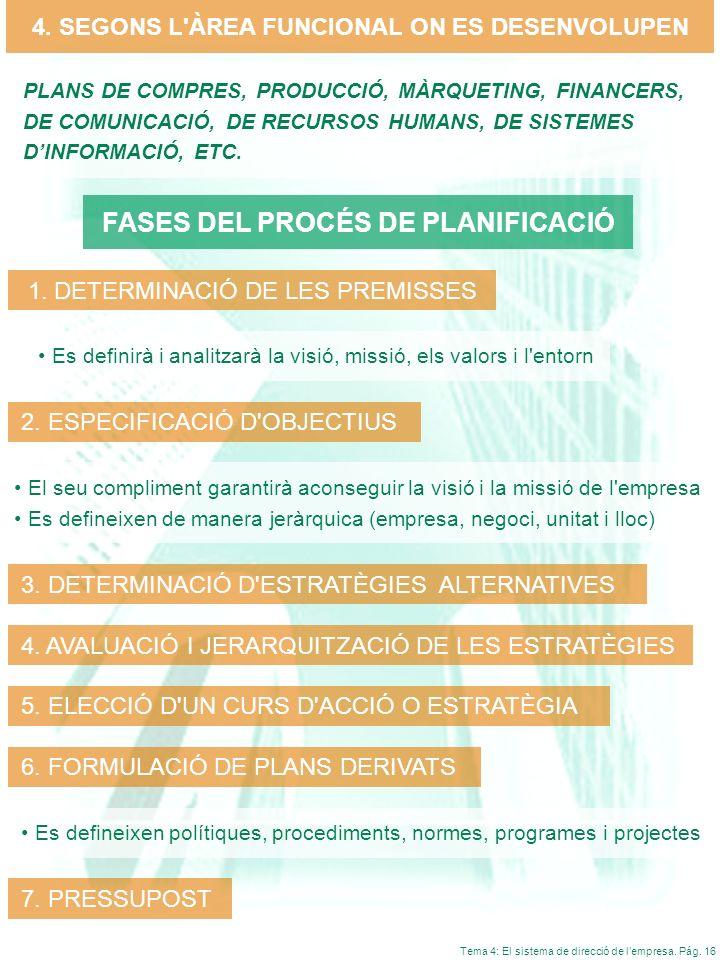 FASES DEL PROCÉS DE PLANIFICACIÓ