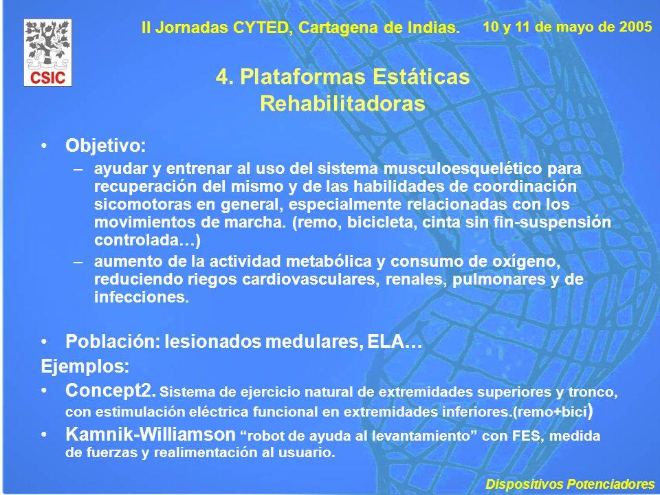 4. Plataformas Estáticas Rehabilitadoras