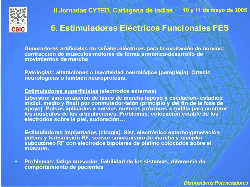 6. Estimuladores Eléctricos Funcionales FES