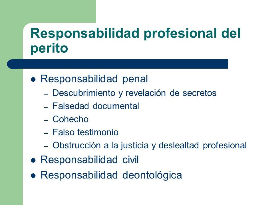 Responsabilidad profesional del perito