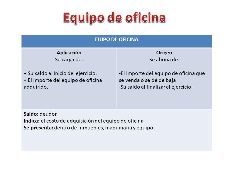Contabilidad de una empresa de servicios empresa b sicas for Equipo de oficina