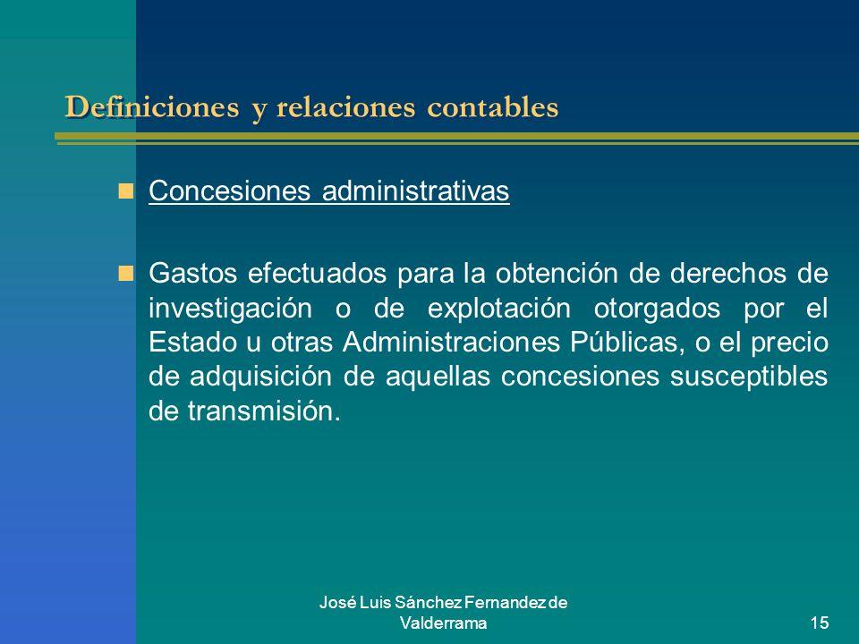 Definiciones y relaciones contables