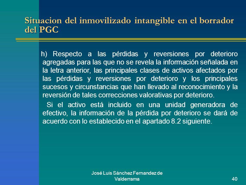 Situacion del inmovilizado intangible en el borrador del PGC