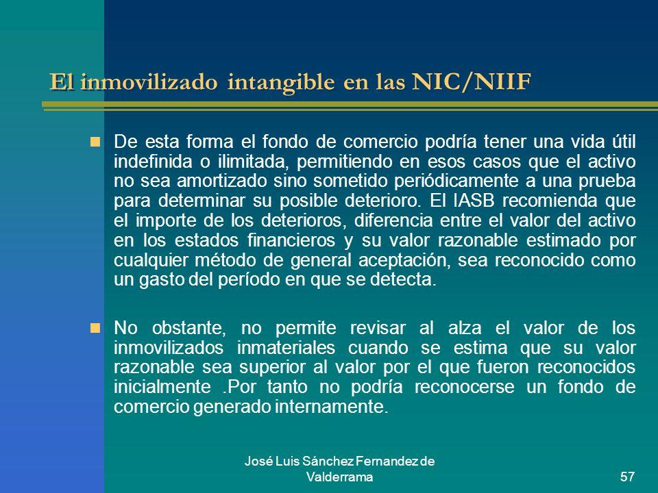 El inmovilizado intangible en las NIC/NIIF