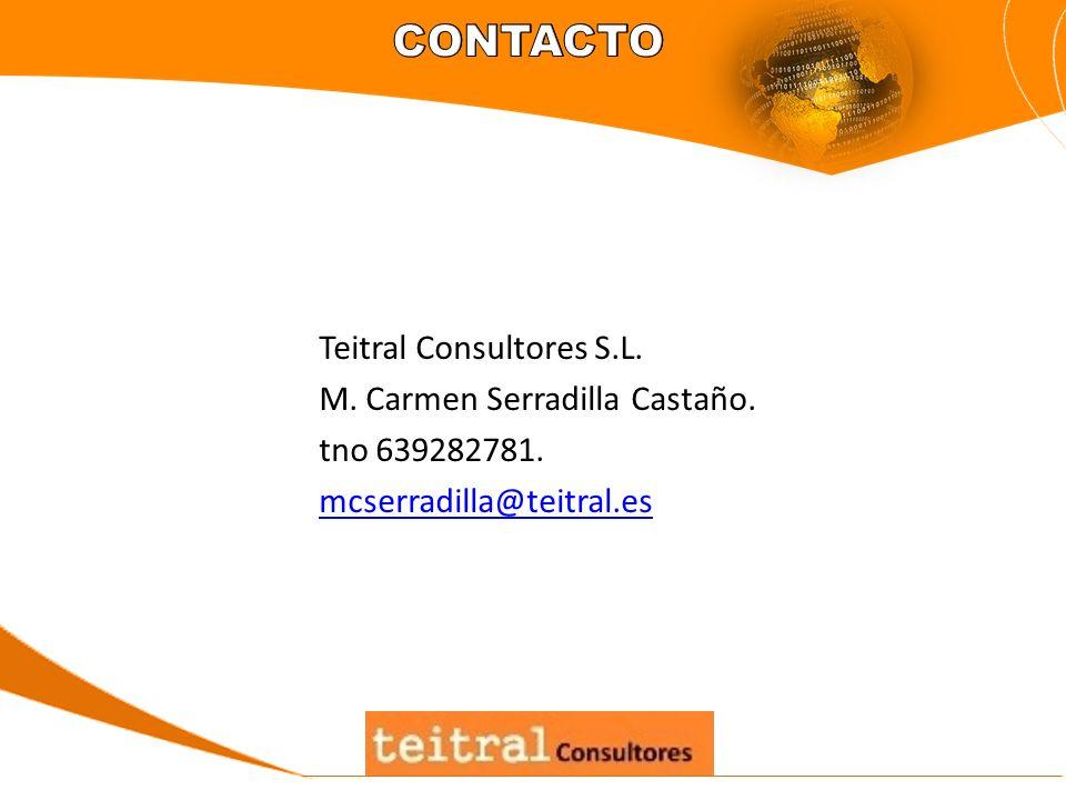 CONTACTOTeitral Consultores S.L.M. Carmen Serradilla Castaño.