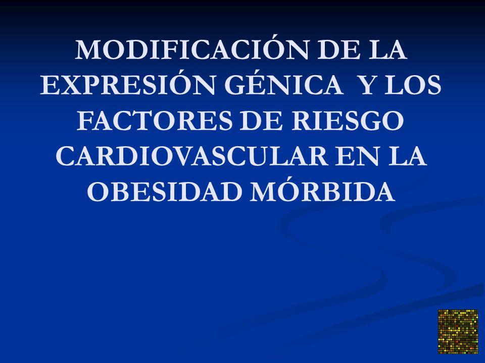 MODIFICACIÓN DE LA EXPRESIÓN GÉNICA Y LOS FACTORES DE RIESGO CARDIOVASCULAR EN LA OBESIDAD MÓRBIDA
