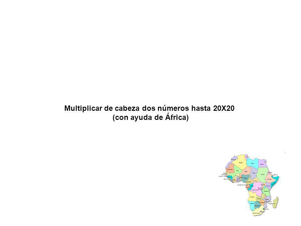 Multiplicar de cabeza dos números hasta 20X20