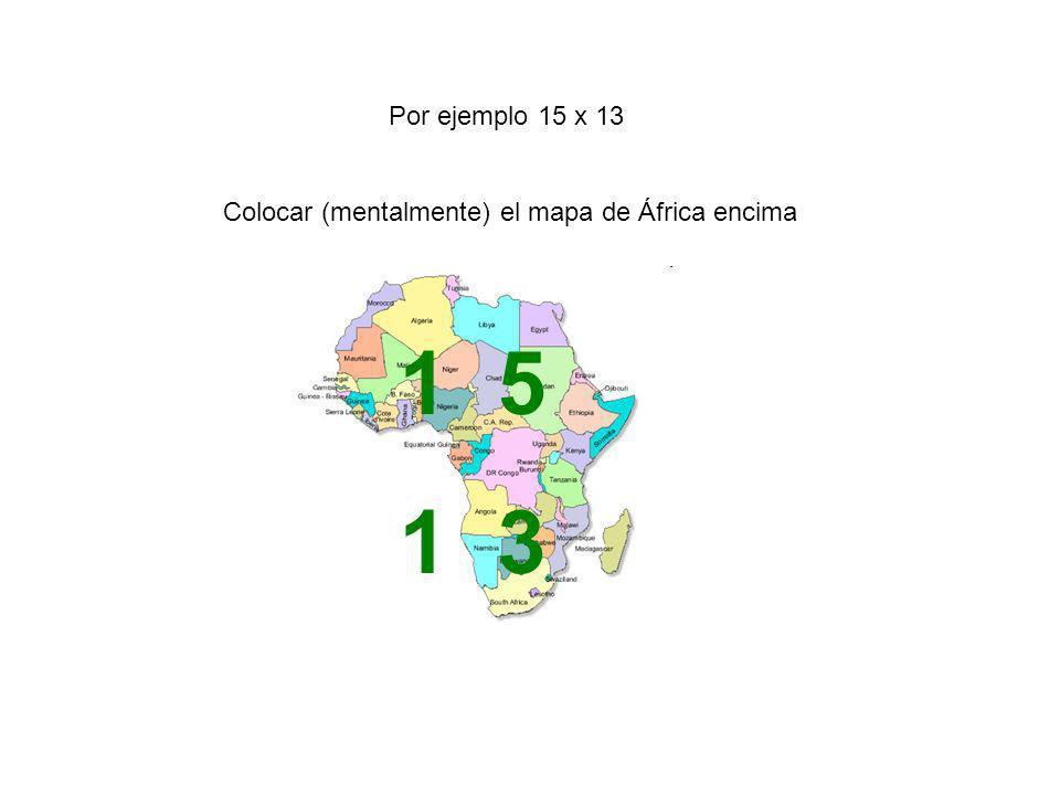 Colocar (mentalmente) el mapa de África encima