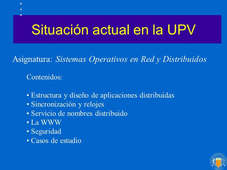 Situación actual en la UPV