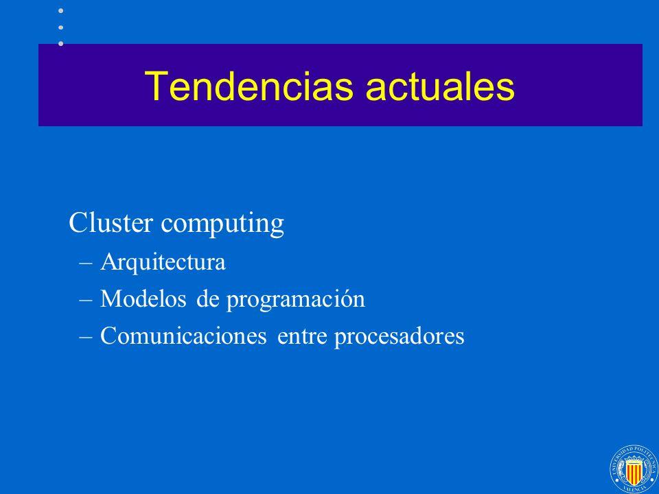 Tendencias actuales Cluster computing Arquitectura