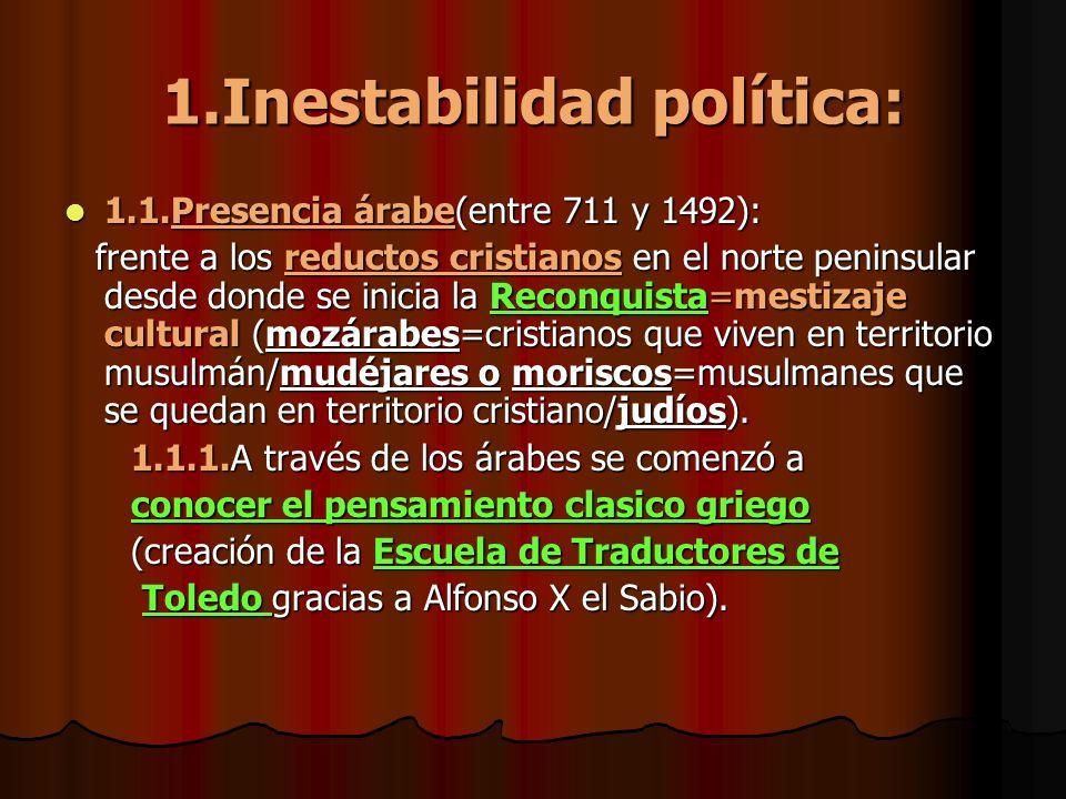 1.Inestabilidad política: