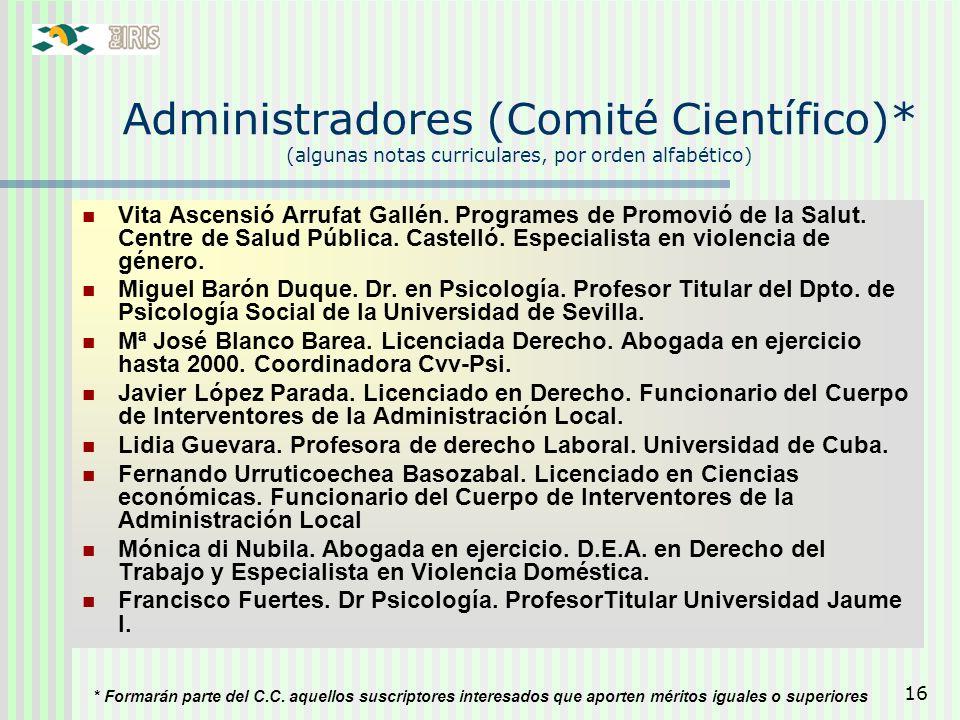 Administradores (Comité Científico)