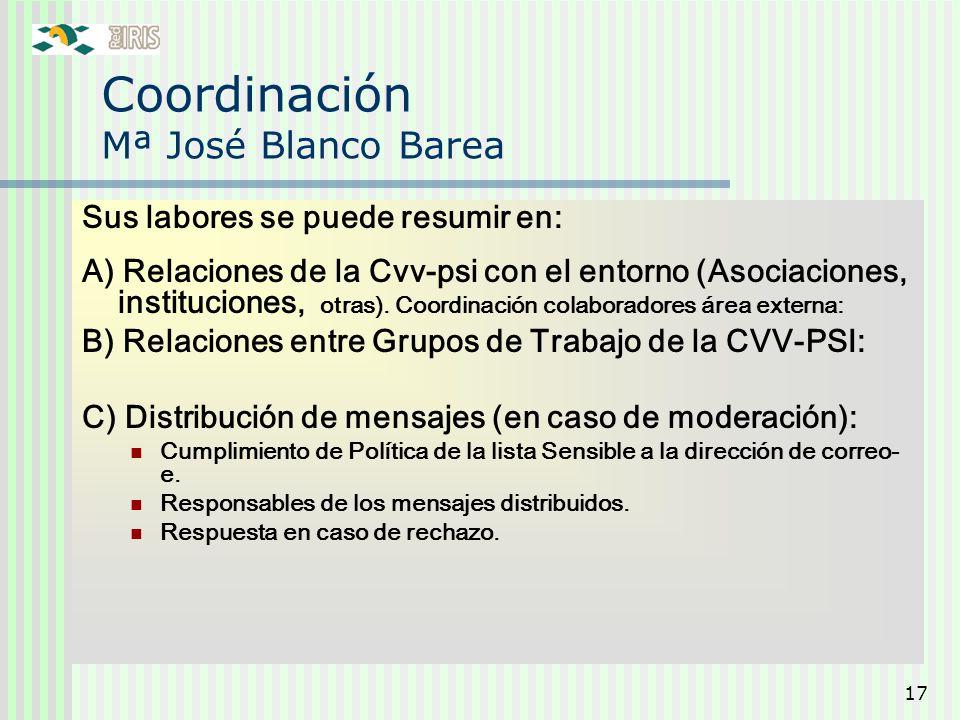 Coordinación Mª José Blanco Barea