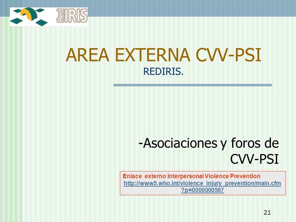 AREA EXTERNA CVV-PSI REDIRIS.