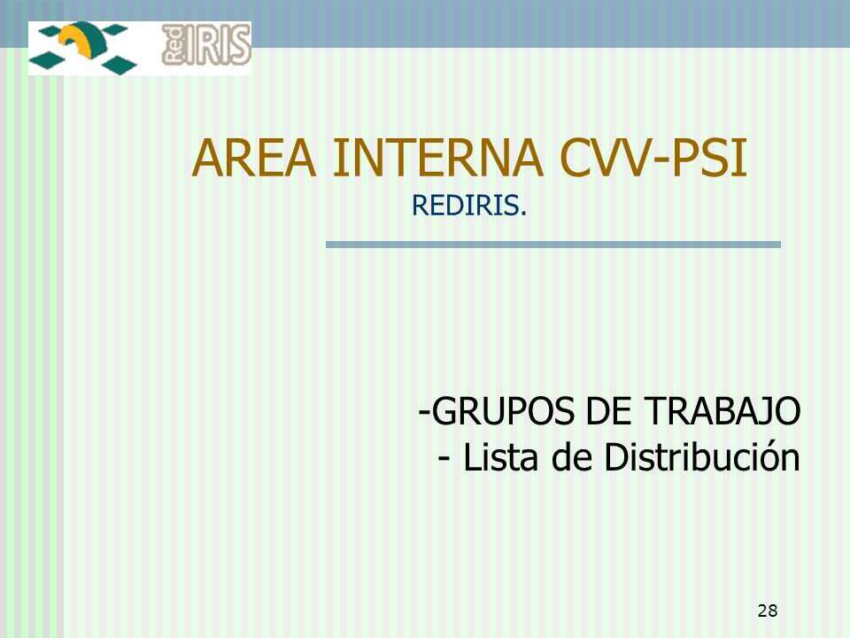 AREA INTERNA CVV-PSI REDIRIS.