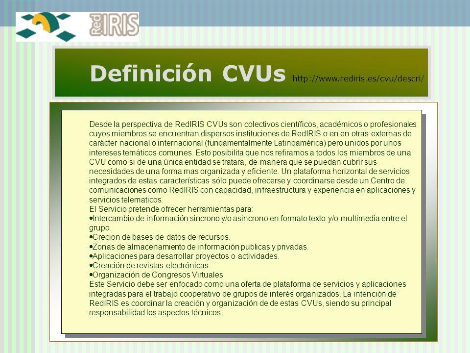 Definición CVUs http://www.rediris.es/cvu/descri/