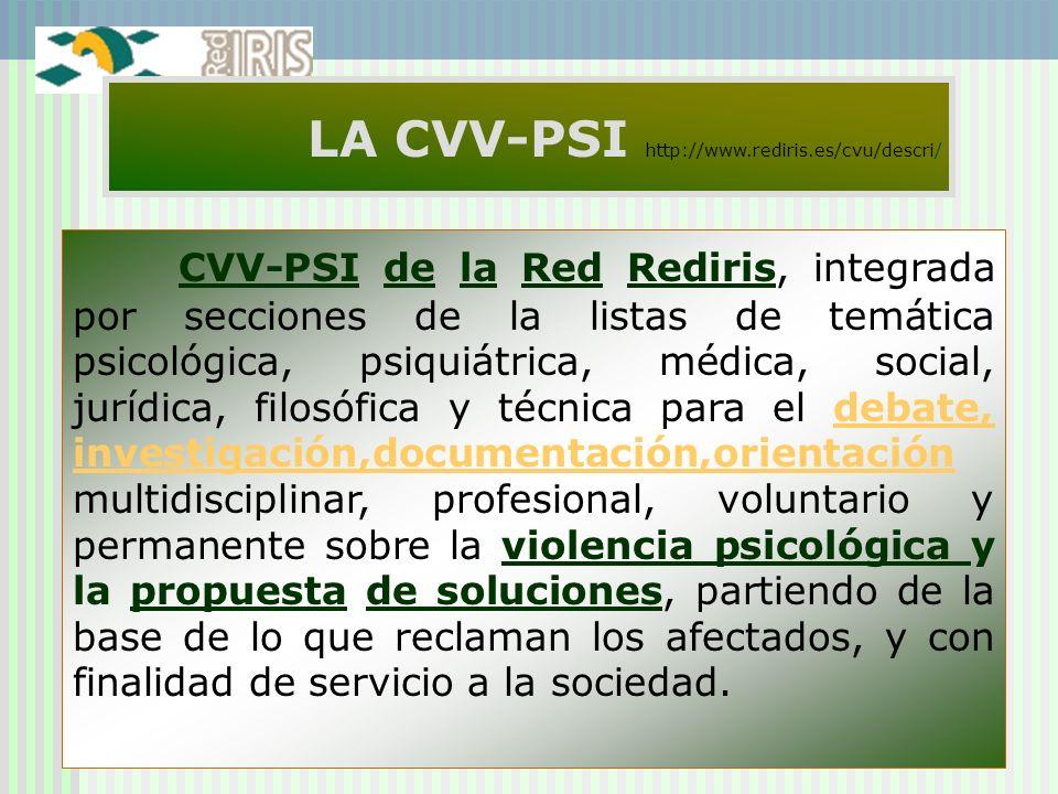LA CVV-PSI http://www.rediris.es/cvu/descri/