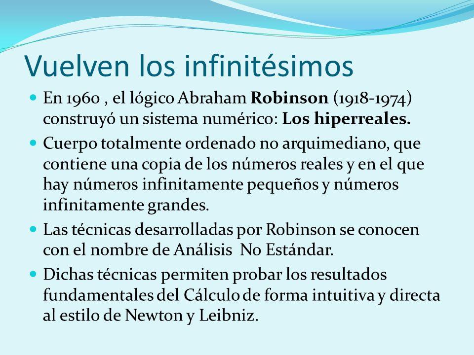 Vuelven los infinitésimos