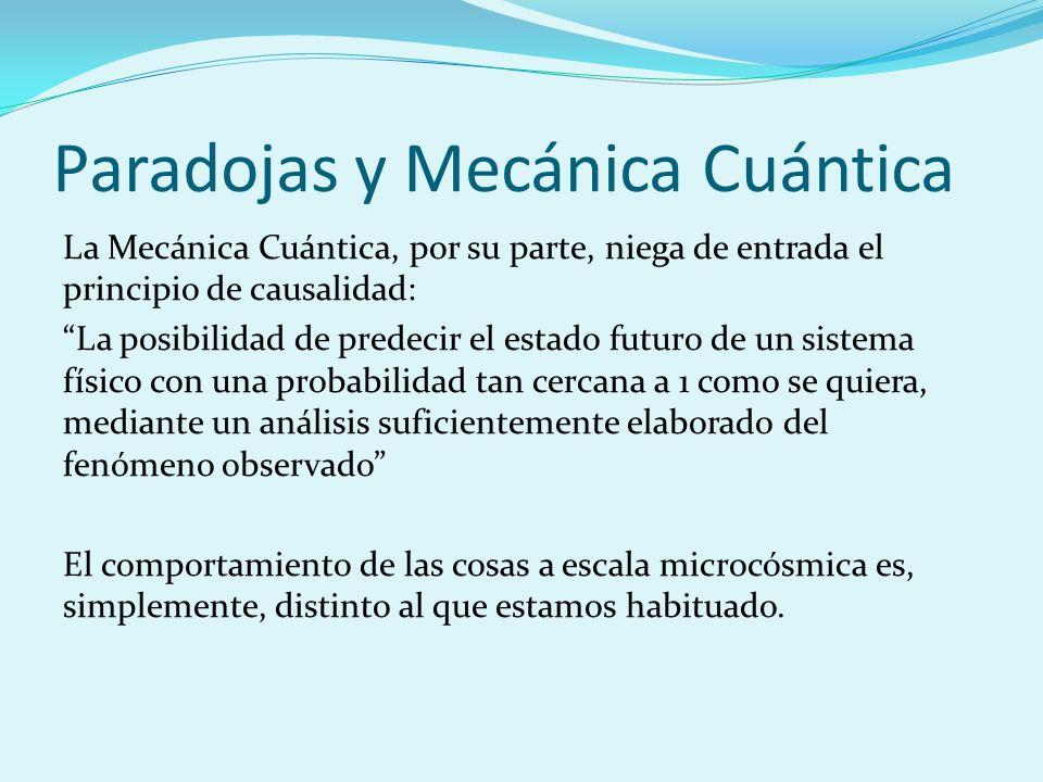 Paradojas y Mecánica Cuántica