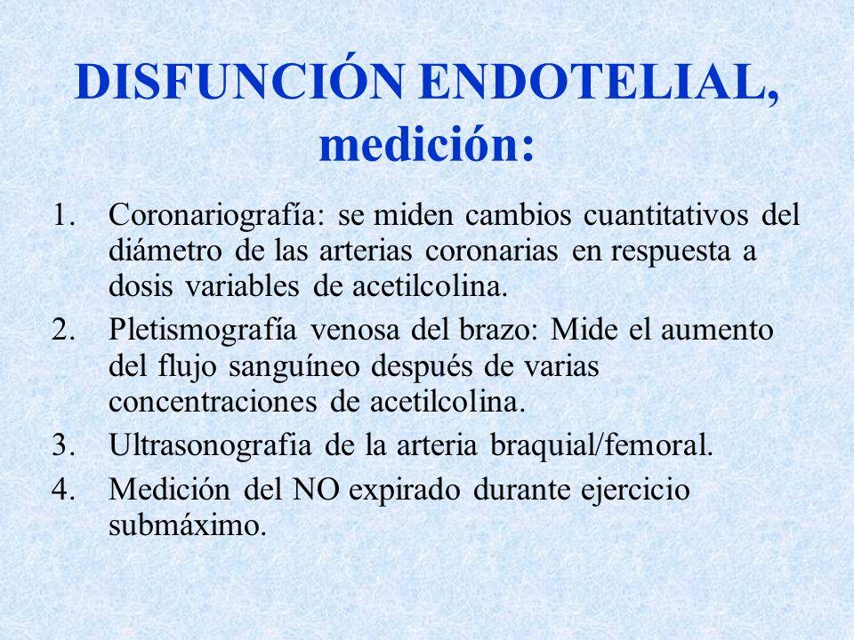 DISFUNCIÓN ENDOTELIAL, medición: