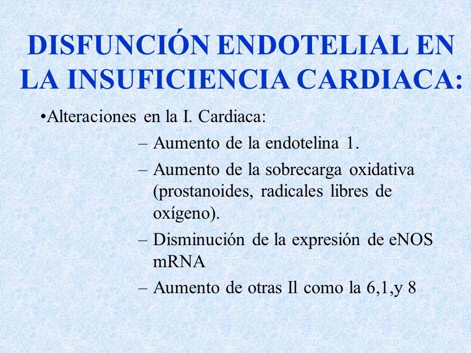 DISFUNCIÓN ENDOTELIAL EN LA INSUFICIENCIA CARDIACA:
