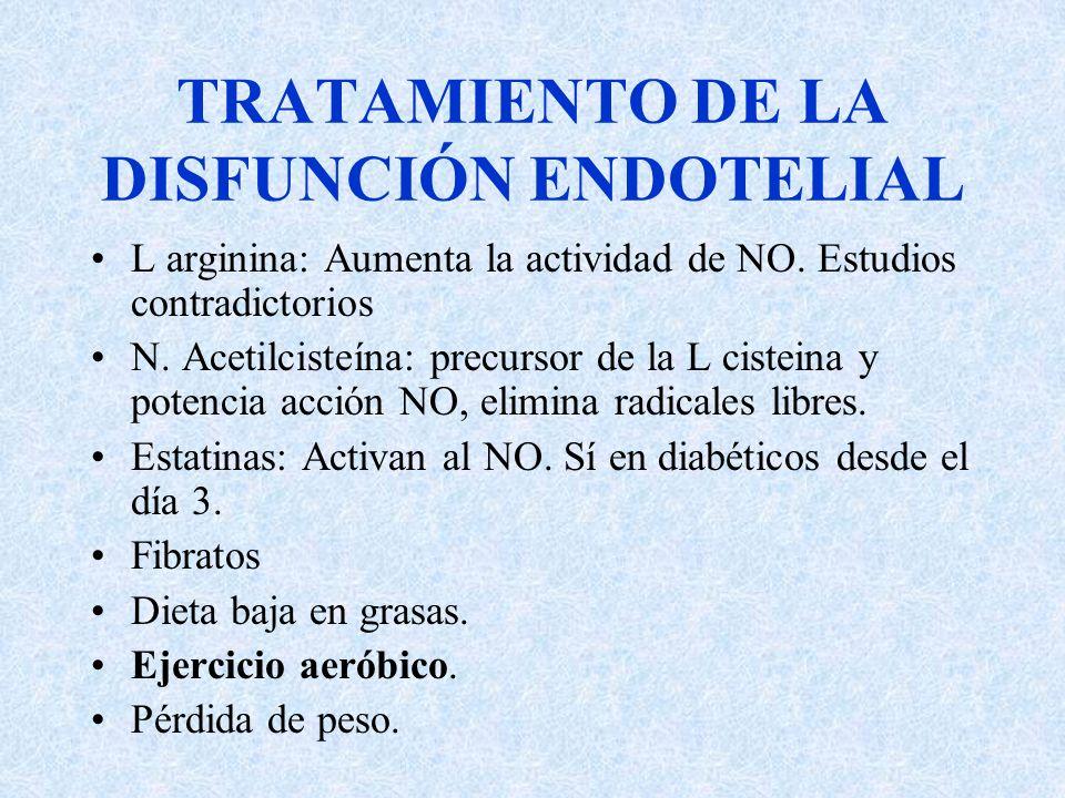 TRATAMIENTO DE LA DISFUNCIÓN ENDOTELIAL