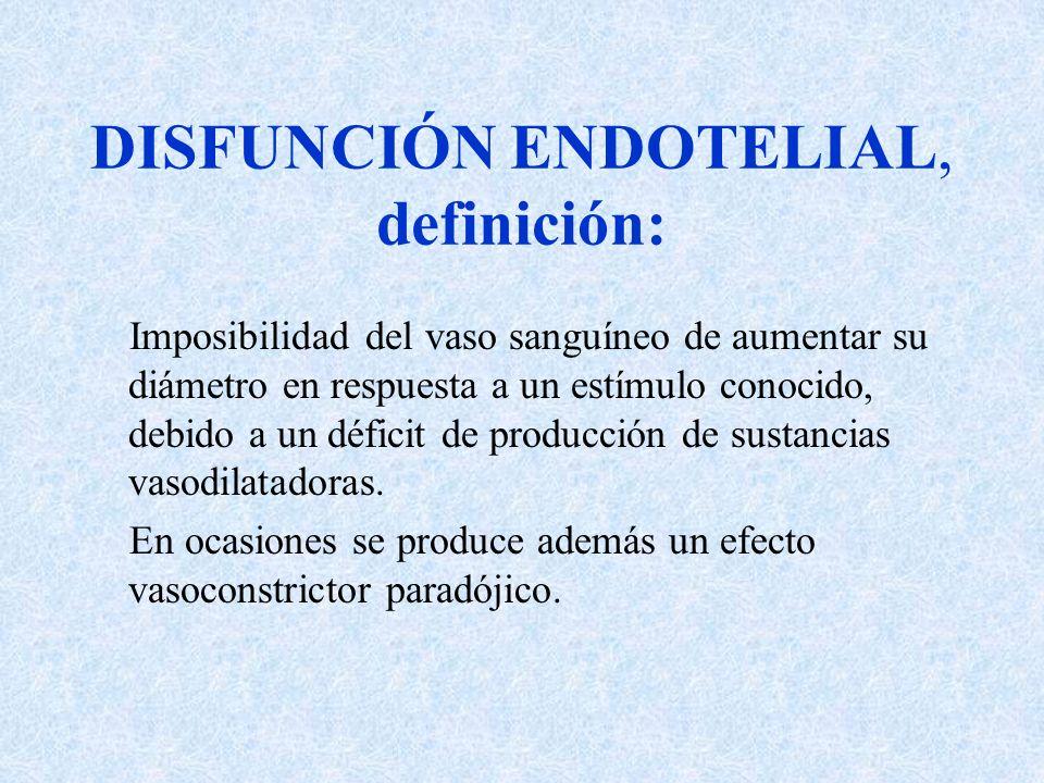 DISFUNCIÓN ENDOTELIAL, definición: