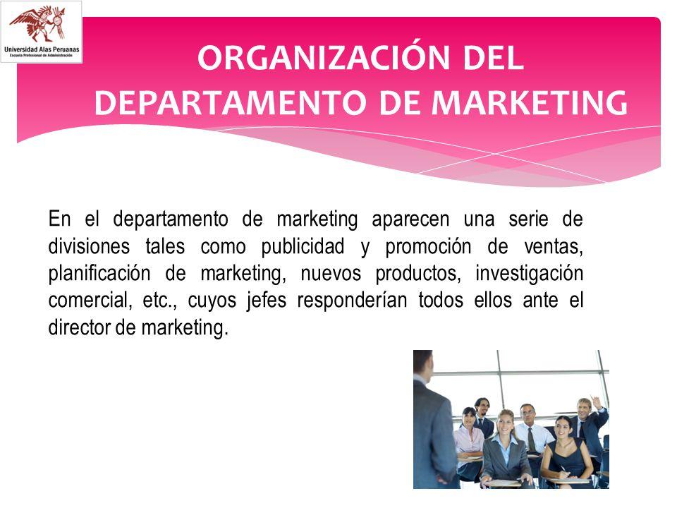 Organizaci n del departamento de marketing ppt video for Organizacion de un vivero