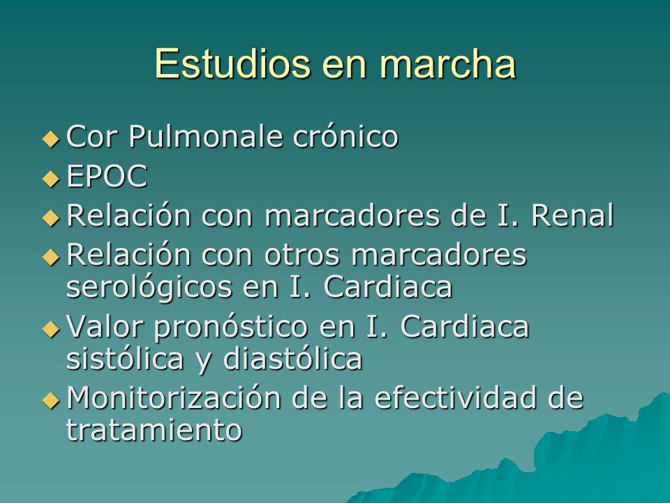 Estudios en marcha Cor Pulmonale crónico EPOC