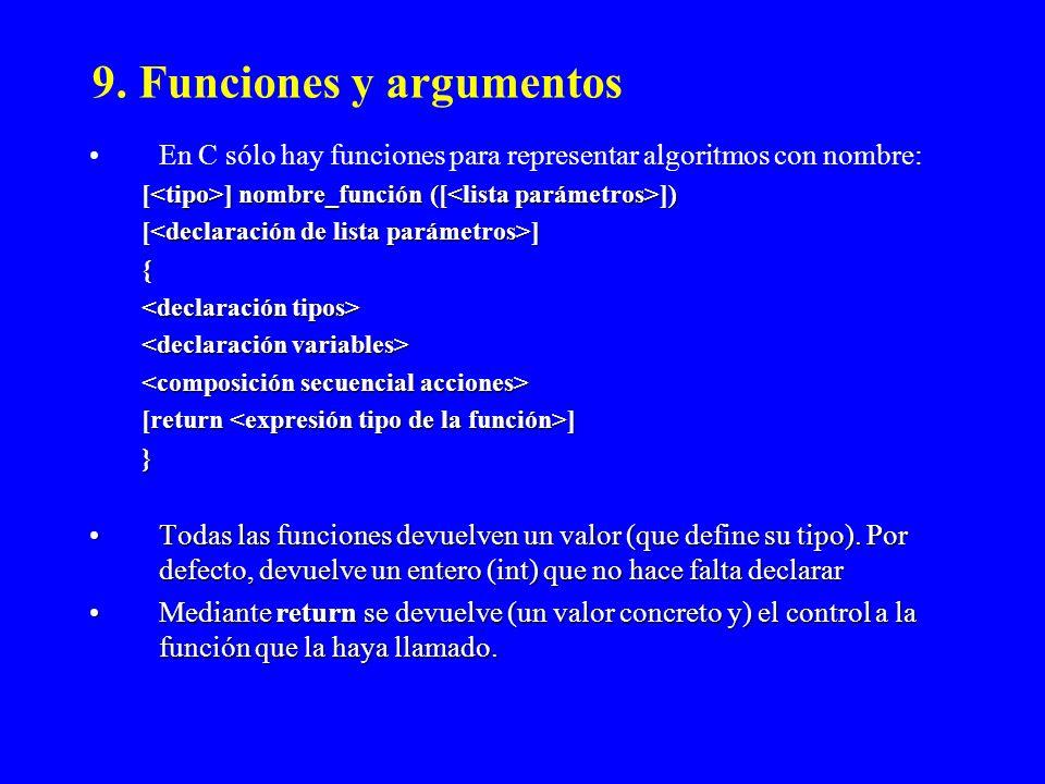 9. Funciones y argumentos
