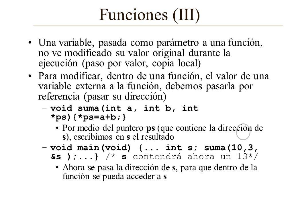 Funciones (III)