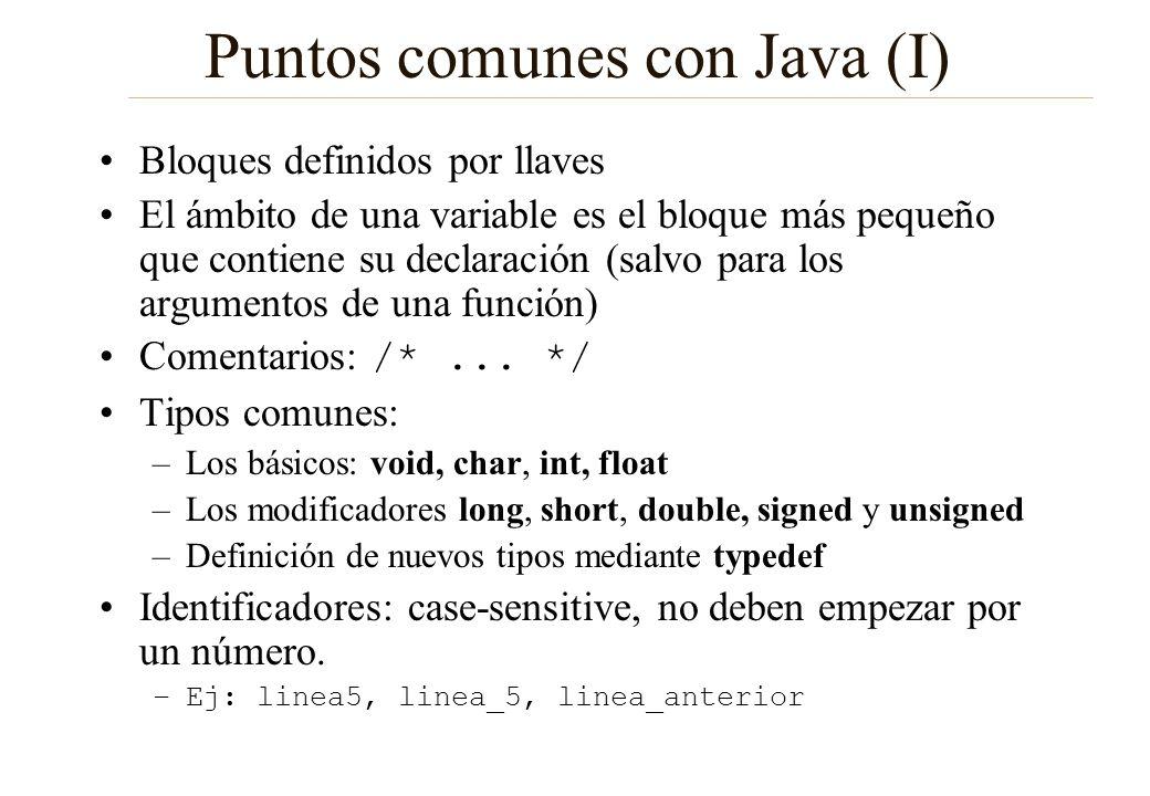 Puntos comunes con Java (I)
