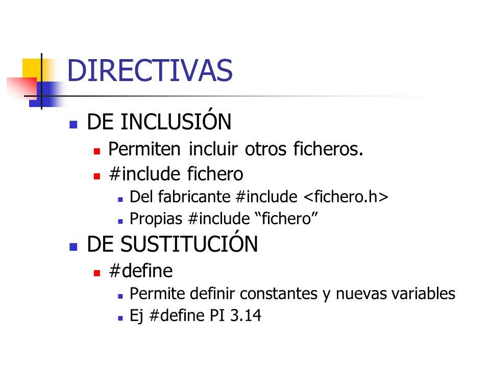 DIRECTIVAS DE INCLUSIÓN DE SUSTITUCIÓN