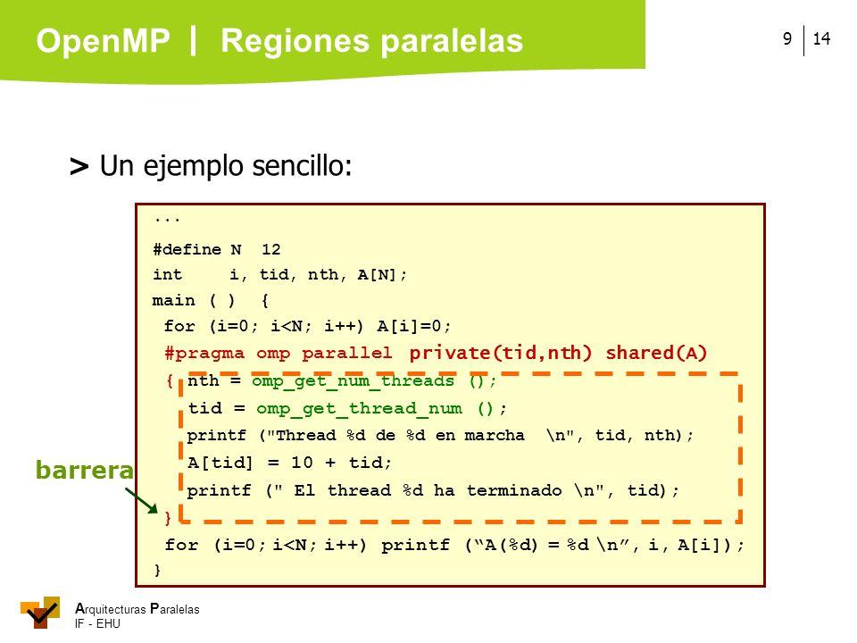 Regiones paralelas > Un ejemplo sencillo: barrera